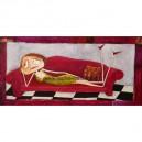La paresseuse III - 50x100 cm - Acrylique sur toile