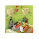 Milk time - carte double 15x30cm ouverte