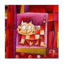 Le chat qui se tient à carreau - 15 x 15 cm