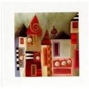 Petites maisons - 15x15cm