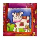 La vache et le couturier - 15 x 15 cm