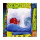 Le poisson rouge  - 15 x 15 cm