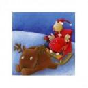Poule de Noël - 15 x 15 cm