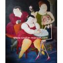 Four Women (Hommage à F.Botero) - 120 x 100 cm
