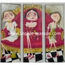 Les 3 princesses - 120 x 120 cm (Triptyque)