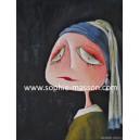 La jeune fille à la perle - 10x15 cm