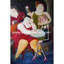 Four Women (hommage à Botero) - 10x15 cm