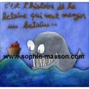 C'est l'histoire de la baleine qui voulait manger un bateau- 24x24 cm- Acrylique sur papier