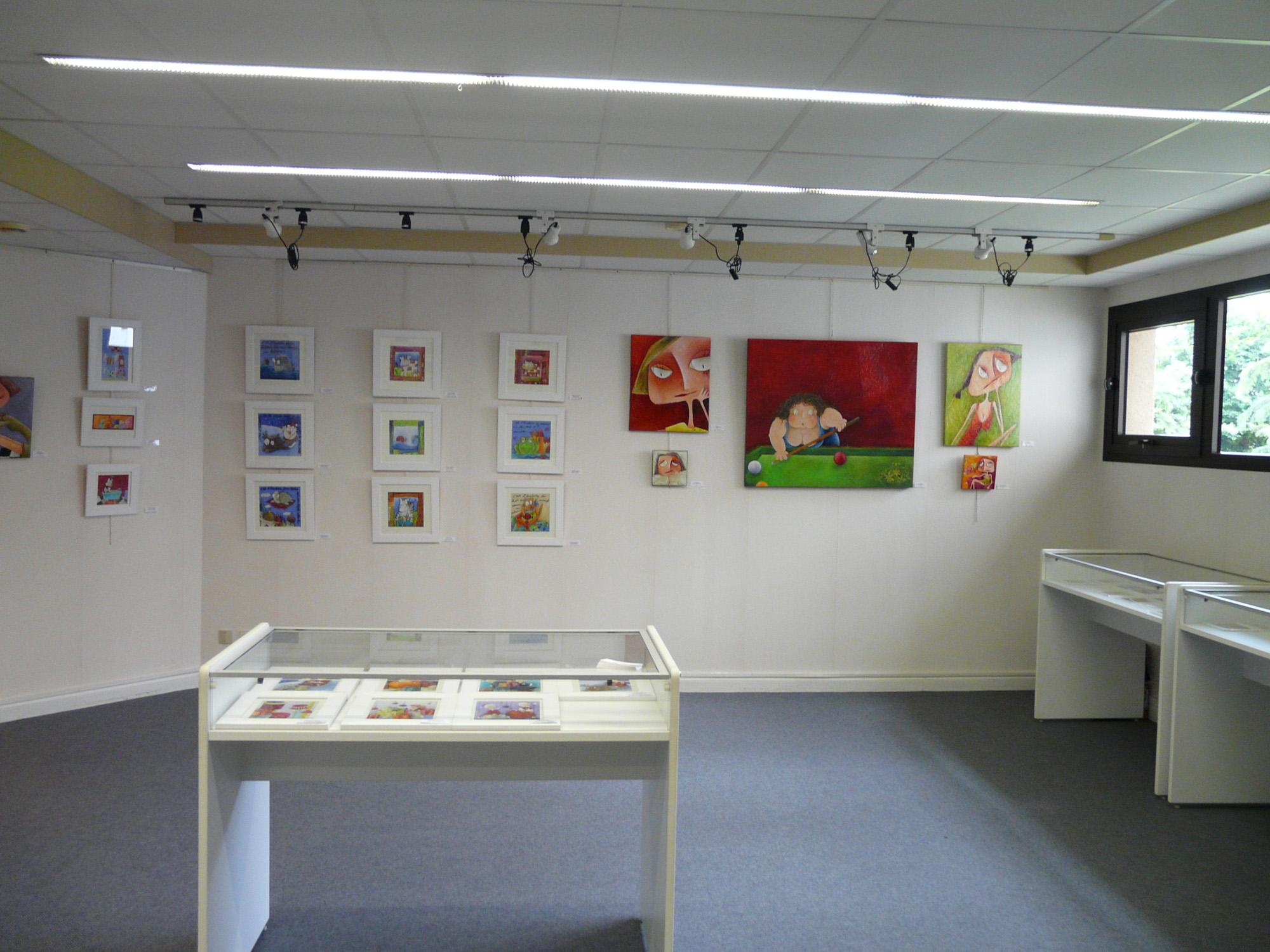 Une vue de la salle d'exposition
